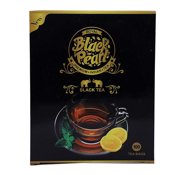 Royal Black Pearl (Heritage Blend) Assam Black 250gm Tea Bags 100 Tea Bags