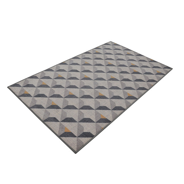 Rugsmith (RS000032) RUGS & CARPETS Grey Color Premium Qualty GEOMETRICAL Pattern Polyamide Nylon DIORITE RUG Area Rug