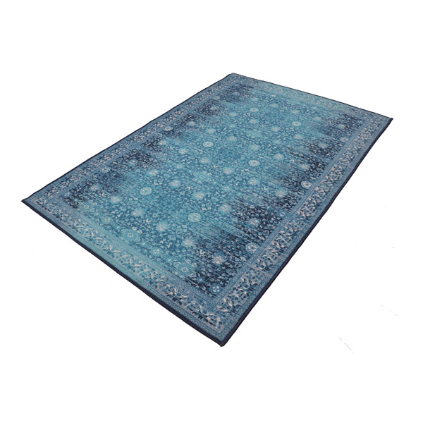 Rugsmith (RS000048) RUGS & CARPETS Warn Blue Color Premium Qualty TRADITIONAL Pattern Polyamide Nylon LEGACY RUG Area Rug ( Size 4X6)
