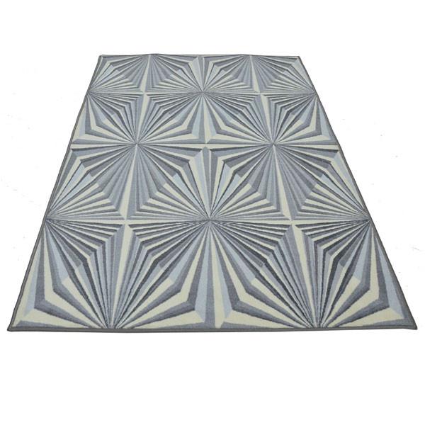 Rugsmith (RS000146) Grey Color Premium Qualty MODERN Pattern Polyamide Nylon ILLUSION RUG Area Rug