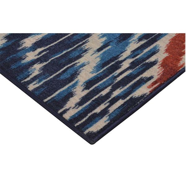 Rugsmith (RS000156) Navy Blue Premium Qualty MODERN Pattern Polyamide Nylon CROWN IKAT RUG Area Rug