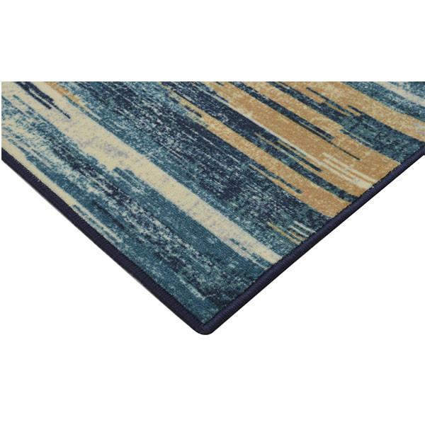 Rugsmith (RS000161) Teal Multi Color Premium Qualty MODERN Pattern Polyamide Nylon SLASH IKAT RUG Area Rug