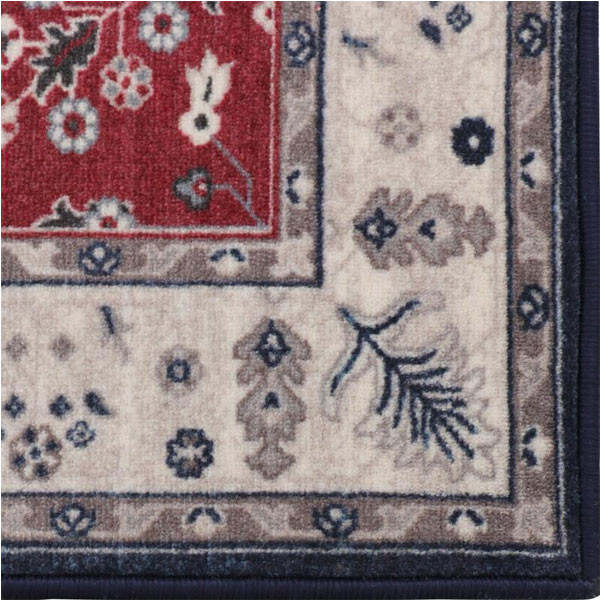 Rugsmith (RS000189) RED MULTI Color Premium Qualty CLASSICAL Pattern Polyamide Nylon VINTAGE GARDEN RUG Area Rug