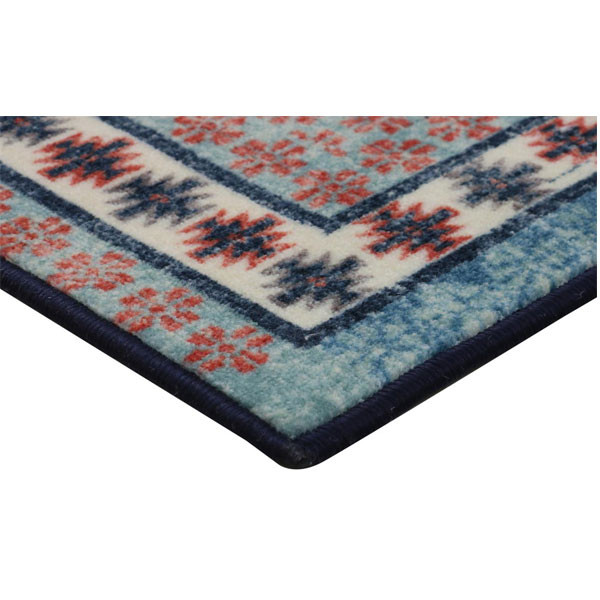 Rugsmith (RS000191) BLUE MULTI Color Premium Qualty CLASSICAL Pattern Polyamide Nylon OTTOMAN RUG Area Rug