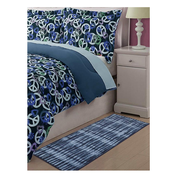 Rugsmith (RS000088) RUGS & CARPETS (Size Standard) Midnight Navy Color Premium Qualty MODERN Pattern Polyamide Nylon RESIST RUG Runner