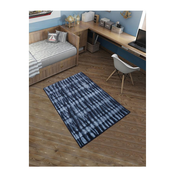Rugsmith (RS000089) RUGS & CARPETS Midnight Navy Color Premium Qualty MODERN Pattern Polyamide Nylon RESIST RUG Area Rug
