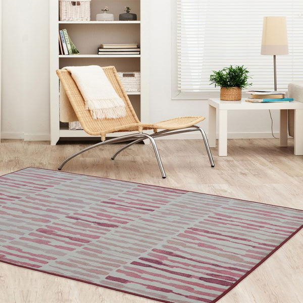 Rugsmith (RS000098) Cherry Pink Color Premium Qualty MODERN Pattern Polyamide Nylon ACACIA RUG Area Rug