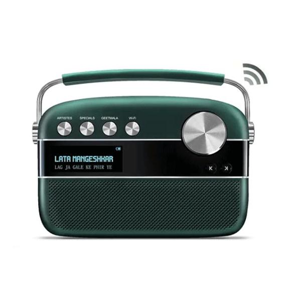 Saregama Carvaan 2.0 Portable Digital Music Player 15000+ Songs/150+ Daily updated Wi-Fi based audio stations/FM-AM Radio/Bluetooth/USB/Emrald Green & Classic Black