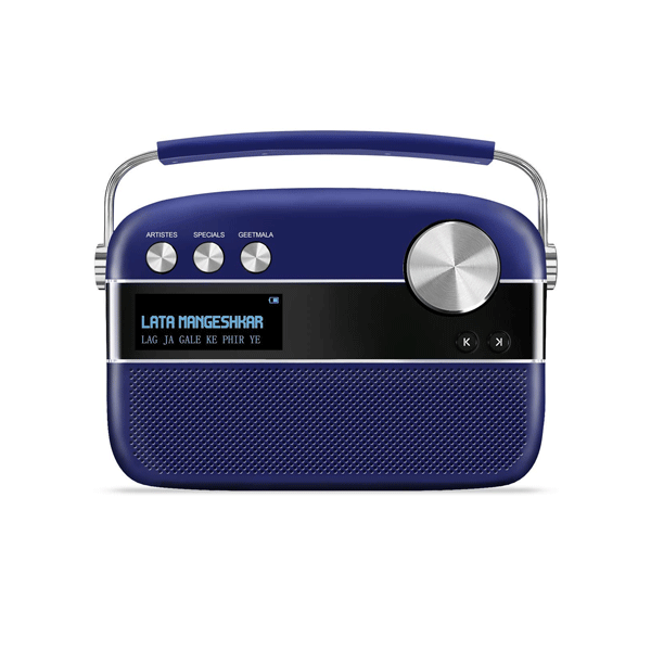 Saregama (R20017) Carvaan Premium Portable Digital Music Player/5000 Songs categorized into 130+ dedicated stations/ FM-AM Radio/ Bluetooth/ USB/ Royal Blue