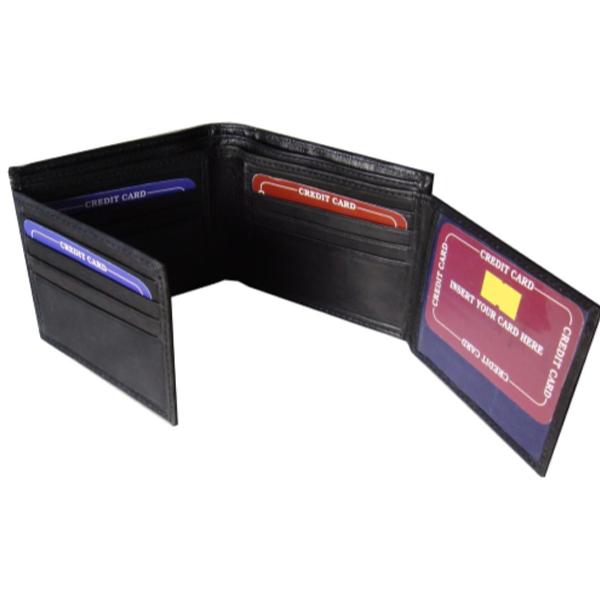 Saw - 1020, 4-Fold Wallet Leather, Black