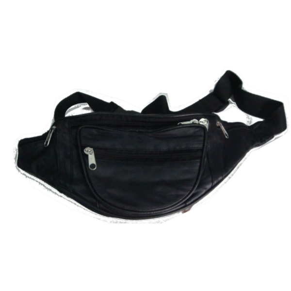 Saw 011 leather Money Pouch Black