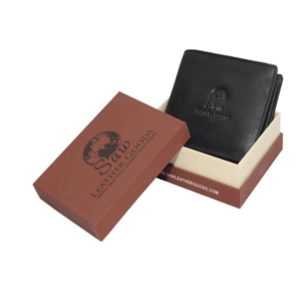 Saw 016 leather Wallet Black