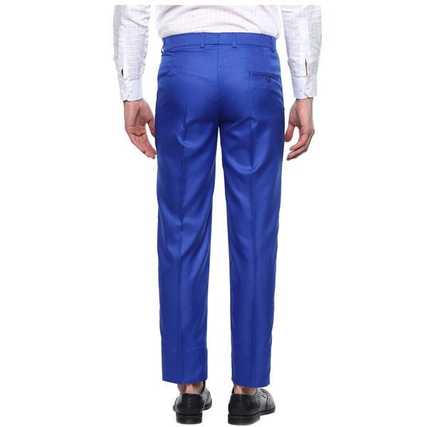 Shaurya-F Regular Fit Men Trousers/ Size 36/ Royal Blue