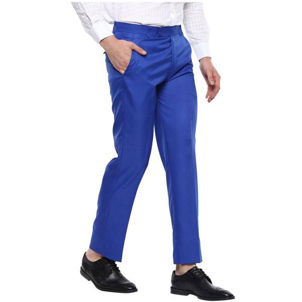 Shaurya-F Regular Fit Men Trousers/ Size 38/ Royal Blue