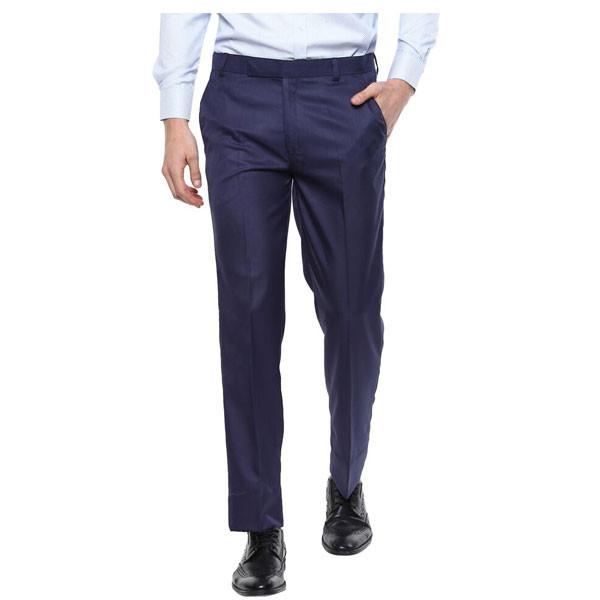 Shaurya-F Regular Fit Men Formal Trouser/ Size 40/ Dark Blue