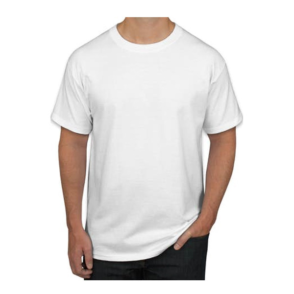 Sports Man Round Neck H/S T-Shirts/ White