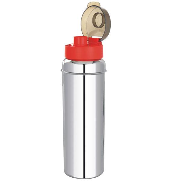 Steel Fridge Bottle with Steel Holder Single Wall 800 ML