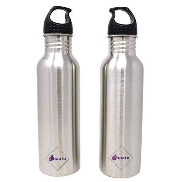 Steel Sports Bottle With Plastic Lid 800 ML Single Wall