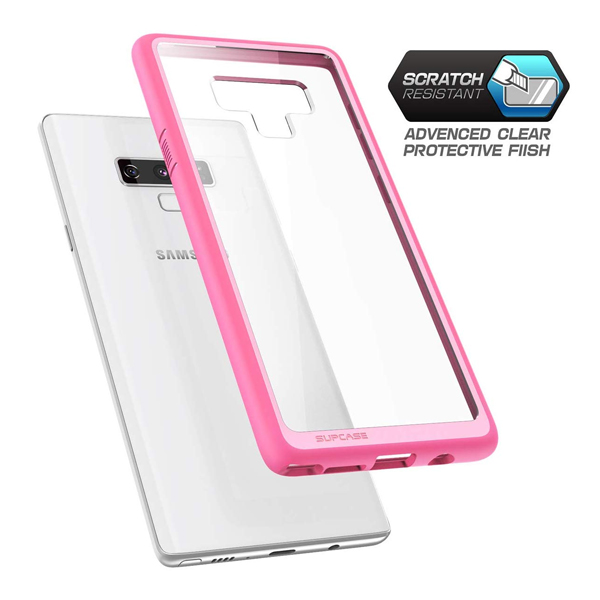 Supcase (B07GZQBDKJ) Unicorn Beetle Style Series Hybrid Protective Clear TPU Case for Samsung Galaxy Note 9 (Pink)