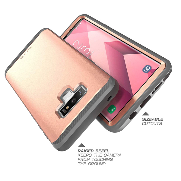 Supcase (B07H3359VZ) (UB Neo Series) Case for Samsung Galaxy Note 9, Full-Body Protective Dual Layer Armor Cover with Built-in Screen Protector for Samsung Galaxy Note 9 2018 (Rosegold)