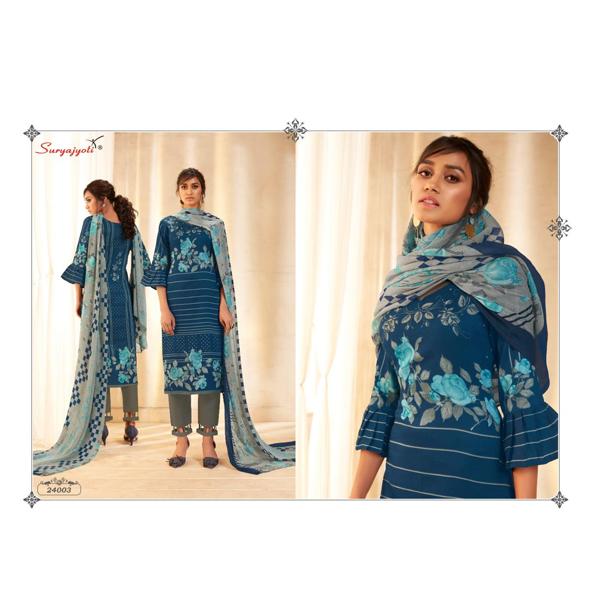Suryajyoti Top & Bottom Satin Cotton Dupatta Chiffon Naishaa Dress (Multicolor)