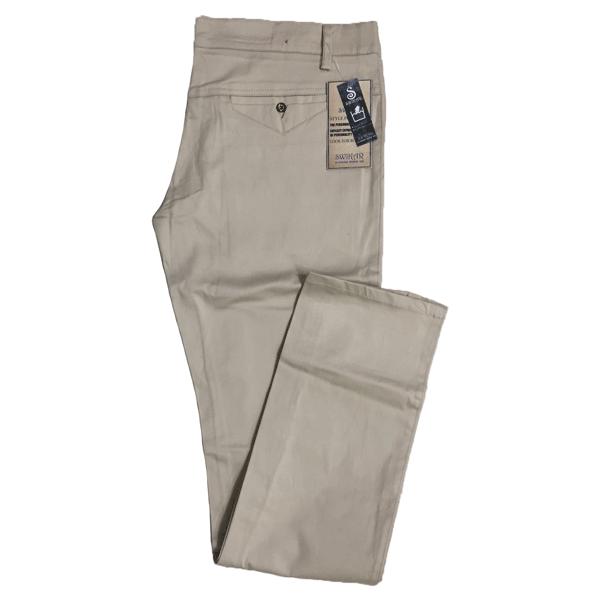 Swikar Men's Cotton Pants Beige