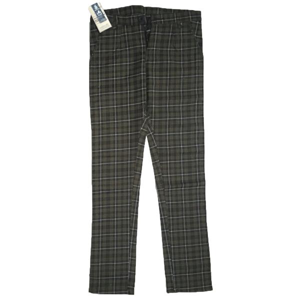 Swikar Men's Checked Cotton Pants Black