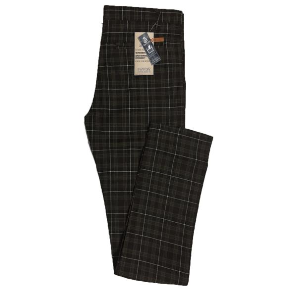 Swikar Men's Checked Cotton Pant Black
