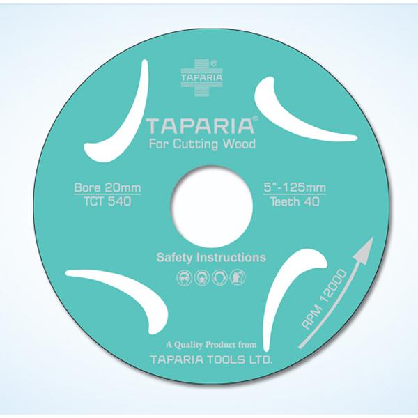 TAPARIA - TCTS 430, TCT Wood Cutting Blade