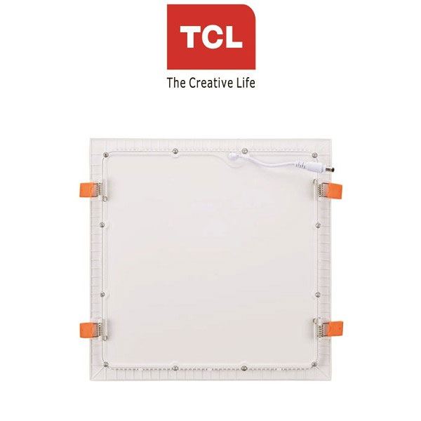 TCL LED Ultra Slim Flat Panel Light - 18W/6000K - Square White