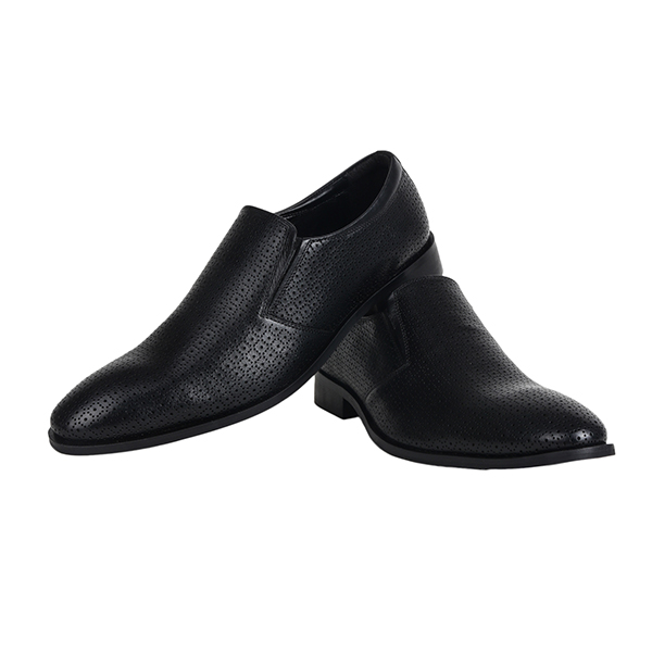 The Leather Box (8634) Calf Leather the Flambuoyant Black Loafer Shoes