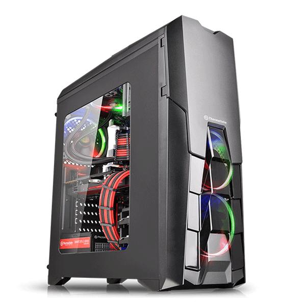 Thermaltake (CA-1G2-00M1WN-00 Versa N25) ATX Window Mid-Tower Cases (Black)