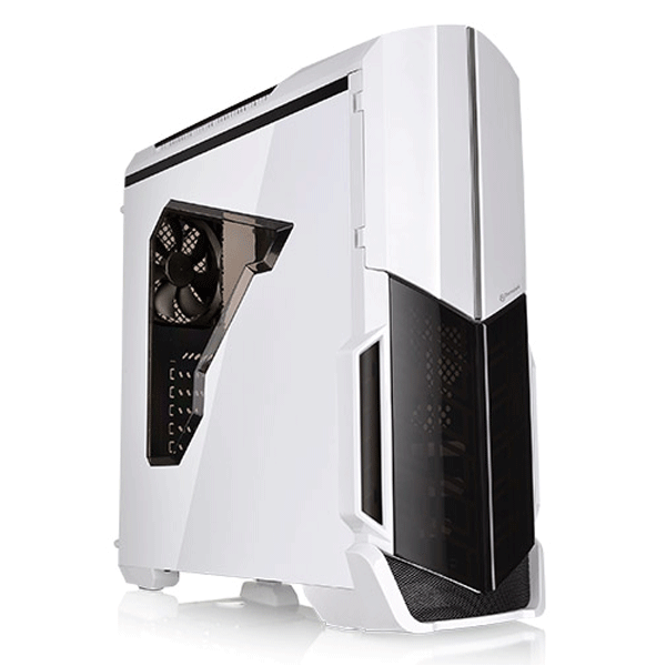 Thermaltake (CA-1D9-00M6WN-00 Versa N21) Snow Window ATX Mid-Tower Gaming Computer Cases (White)