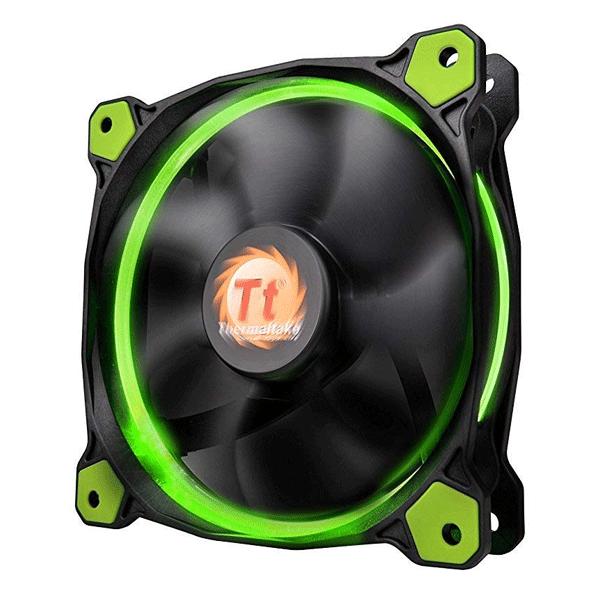 Thermaltake (CL-F058-PL12GR-A) Riing 12 High Static Pressure LED Radiator Fan (Green)