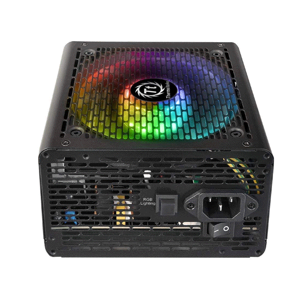 Thermaltake (PS-SPR-0600NHSAWE-1) Smart RGB/ 0600W Non Modular/ Fan Hub/ Single Voltage Sleeved Cables