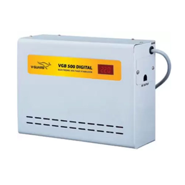 V-Guard VGB 500 Digital (130V- 300V) Voltage Stabilizer (Grey)