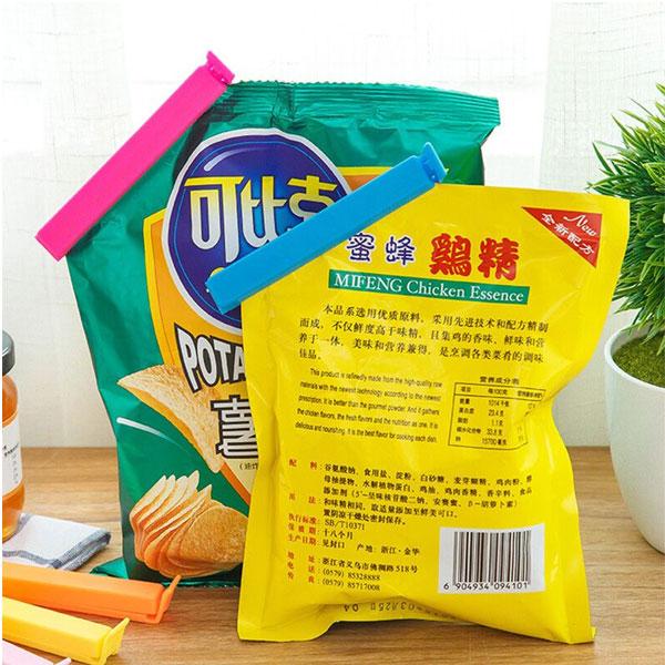 Vaibhavi Plastic Food Bag Sealing Clips A set of 24 pcs (3 Size x 8Pc Each) Multicolor