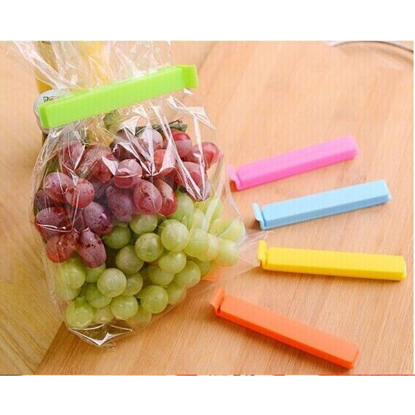Vaibhavi Plastic Food Bag Sealing Clips A set of 18 pcs (3 Size x 6Pc) Each Multicolor