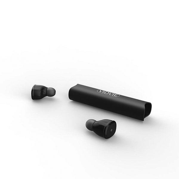 VIDVIE WBT3802 TWS Stereo Wireless Bluetooth Headset V5.0 with Charging Case (Black)