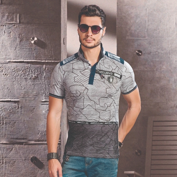Vinson C26521 V-Collar H/S T-Shirt Assorted Combo (Pack 8)