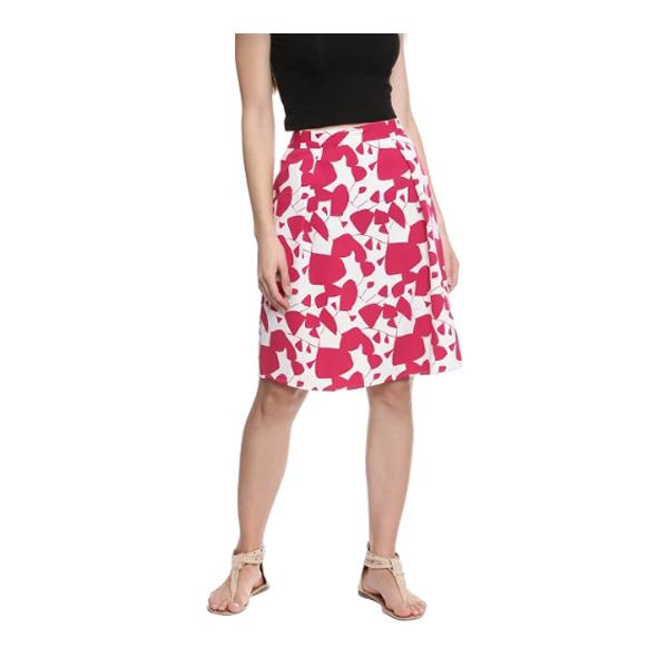 Vodka Fashion India Moss Crepe and Cotton Skirt Multicolor (6 Designs)