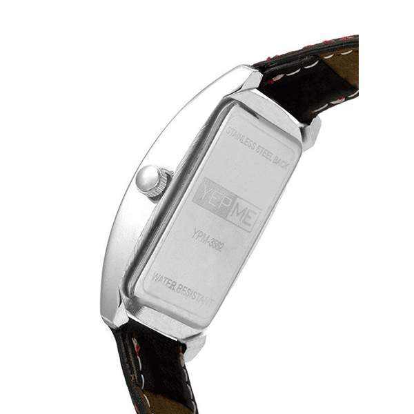 Yepme - 3582, Analog Leather Strap Watch