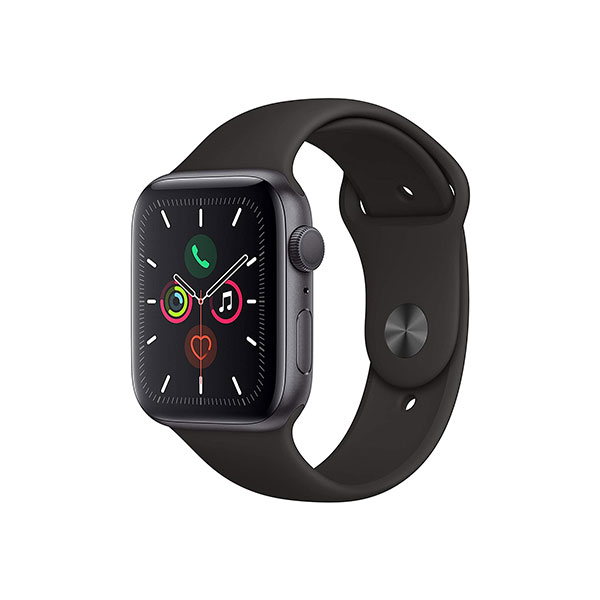 Apple Watch Series 5 Space Gray Aluminum Case with Black Sport Band