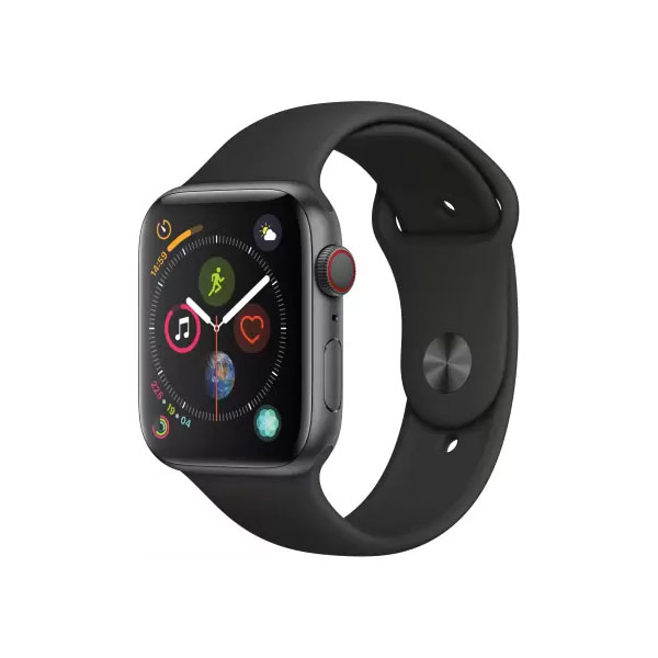 Apple Watch Series 4 GPS + Cellular 44 mm Space Grey Aluminium Case with Black Sport Band