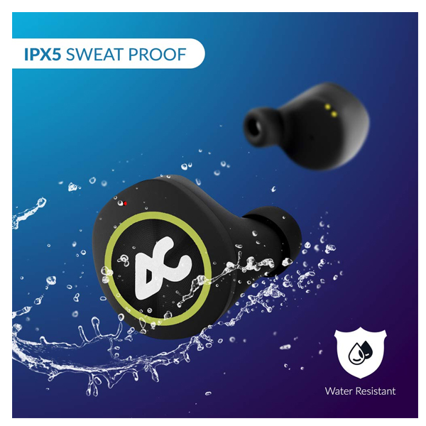 Auxtron AirBolt 505 True Wireless (TWS) Earbuds - Green + Black