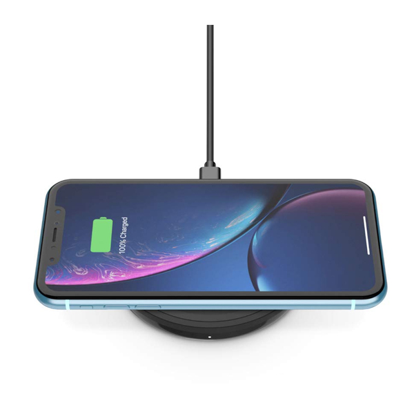 Belkin ( F7U088BTBLK) Boost Up Wireless Charging Pad 10W - Qi Wireless Charger for iPhone Xs, XS Max, XR, X, 8, 8+/ Samsung Galaxy S9, S9+, Note9 and More (No AC Adapter)