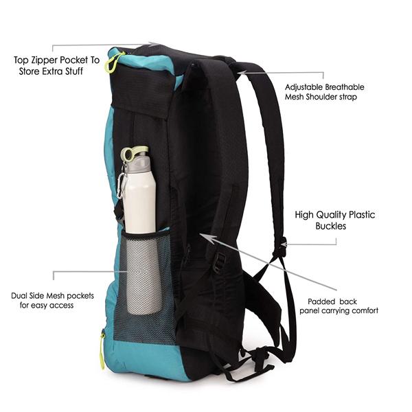 Chris & Kate ( CKB_324LL) Polyester Travel Rucksack Backpack, Trekking Backpacks, Camping Daypack Bag (50 Ltrs ), Navy Blue-Teal Blue
