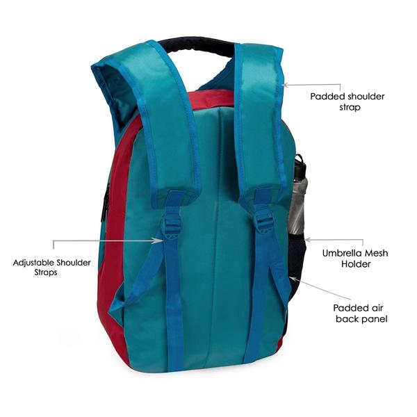 Chris & Kate ( CKB_132RT) 21 Liters School Backpack (White-Black)