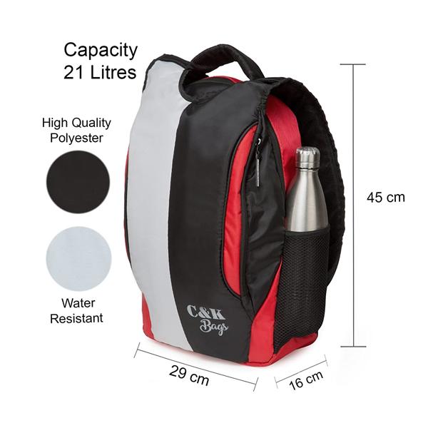 Chris & Kate ( CKB_174) 21 Liters School Backpack (White -Black)
