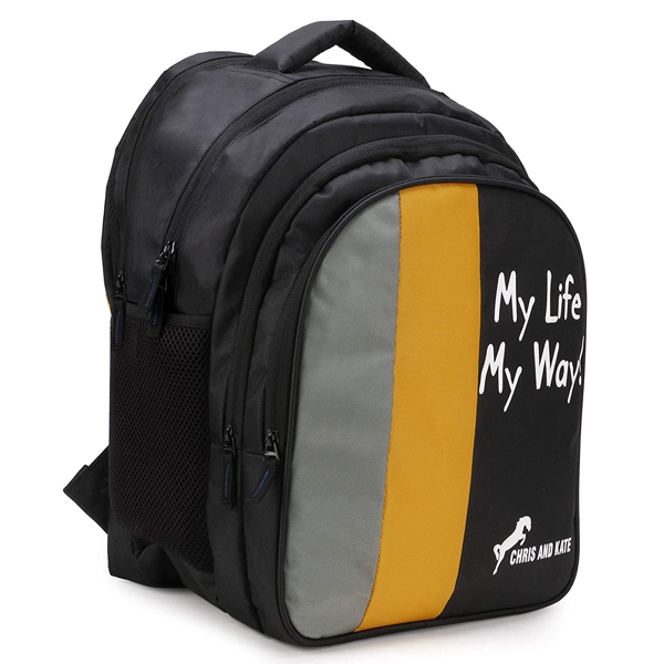 Chris & Kate (CKB_211) 42 Ltrs Backpack ( Black- Yellow)